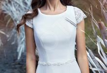 Elegant A-line silhouette Anice wedding dress by DevotionDresses