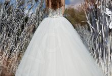 Modern Princess Ball Gown silhouette Daisy wedding dress by DevotionDresses