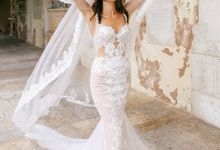 Luxury Trumpet Mermaid silhouette Ashly wedding dress by DevotionDresses