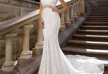 Modern Trumpet Mermaid silhouette Britne wedding dress by DevotionDresses