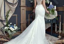 Modern Trumpet Mermaid silhouette Corason wedding dress by DevotionDresses