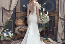 Modern Trumpet Mermaid silhouette Fabrizia wedding dress by DevotionDresses