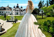 Modern Princess Ball gown silhouette Michelle wedding dress by DevotionDresses