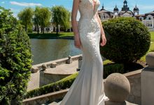 Elegant Trumpet Mermaid silhouette Luizella wedding dress by DevotionDresses