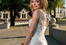 Elegant Trumpet Mermaid silhouette Luigina wedding dress by DevotionDresses
