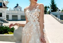 Modern A-line silhouette Ludovika wedding dress by DevotionDresses