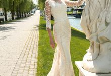 Elegant Trumpet Mermaid silhouette Dafnia wedding dress by DevotionDresses
