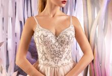 Classic A-line silhouette Lorella wedding dress by DevotionDresses