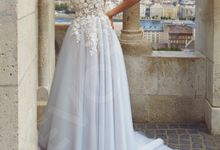 Modern A-line silhouette Lorimille wedding dress by DevotionDresses