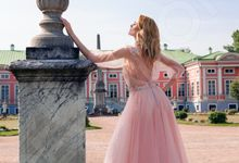 Modern Princess Ball gown silhouette Cassandia wedding dress by DevotionDresses