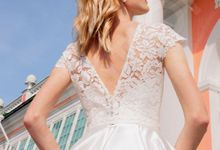 Elegant A-line silhouette Ilma wedding dress by DevotionDresses