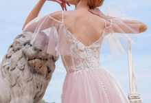 Modern Princess Ball gown silhouette Relinda wedding dress by DevotionDresses