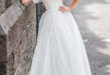 Modern Princess Ball gown silhouette Triteia wedding dress by DevotionDresses
