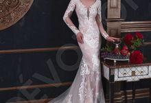 Luxury Trumpet Mermaid silhouette Verania wedding dress by DevotionDresses