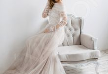 Elegant A-line silhouette Libera wedding dress by DevotionDresses