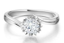 Tiaria Snowflake Engagement Diamond Ring by TIARIA