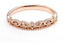TIARIA GORGEOUS ROSE GOLD RINGS DIAMOND SERIES by TIARIA
