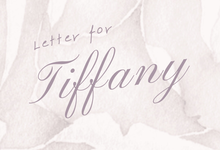 Letter for Tiffany by Tiffany Bridal