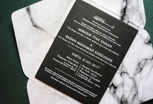 Black Marble Tyas & Raden by Bubble Cards
