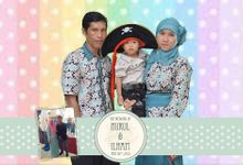 the wedding of nurul & ilham by ROCK Photo Booth