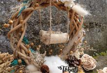 Ringbearer Batari Dried Flowers Rustic Series by Tobaliwedding
