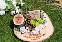 Ringbox Arundaya White Rustic Series by Tobaliwedding