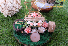 Ringbox Peach White Green Set Ringbox Perhiasan by Tobaliwedding