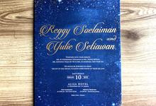 Reggie & Yulie Stardust Invitation by Toho Cards