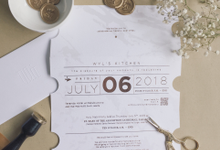 Gold Marble Ticket by Trouvaille Invitation