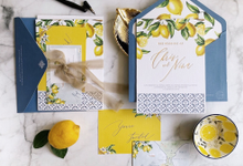 Citrus Capri Island by Trouvaille Invitation