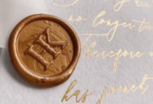 Custom Wax Seals by Trouvaille Invitation