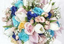 WEDDING BOUQUET  by visylviaflorist