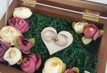 Top View Box - Politur Coklat | Wedding Ring Bearer Box Indonesia - Celemor by Celemor