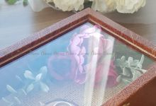 Top View Box - Dark Leather | Wedding Ring Bearer Box Indonesia - Celemor by Celemor