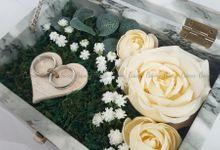 Top View Box - Marble | Wedding Ring Bearer Box Indonesia - Celemor by Celemor