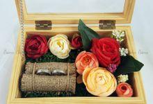 Top View Box - Natural | Wedding Ring Bearer Box Indonesia - Celemor by Celemor