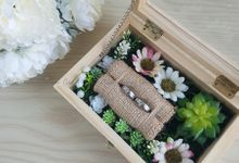 Top View Box - Natural | Wedding Ring Bearer Box Indonesia - Celemor by Celemor