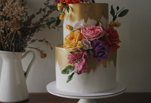 2 tier cake- Engagement cake by Twenty Two Cakes