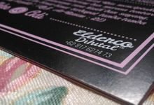 Ikke - Adi (2nd Black & Pink Invitation) by Elderco.id