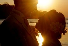Sun Set Beach Photo Wedding Session by Beauty Art of the World