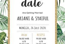 Undangan Grafis Ariani & Syaiful by Sanone Project Digital / Electronic Invitation