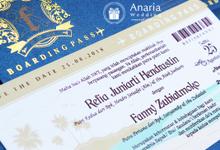 Boarding Pass Wedding Invitation Refia & Fanny by Anaria Souvenir Pernikahan