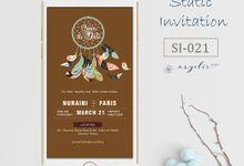 E-Invitation |  Undangan Pernikahan Digital SI-021 by ANYELIR STUDIO
