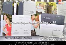 hard cover by unique card wedding invitation