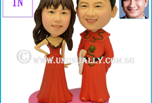 Personalized 3D Lovely Wedding Couple Figurines  by UNUSUALLY CREATION - THE ORIGINAL 3D FIGURINE'S FOUNDER