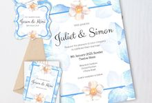 Periwinkle Blue Invitation by Gift Elements