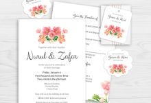 Rose Bouquet Wedding Invitation by Gift Elements