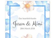 Periwinkle Blue Cascade Sticker and Tag Set by Gift Elements