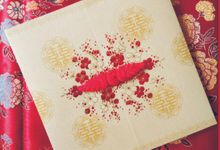 Oriental Style 'Red & Gold' by Levellove Card