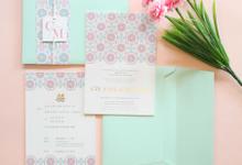 Cze Yang & May Gin by Vinas Invitation